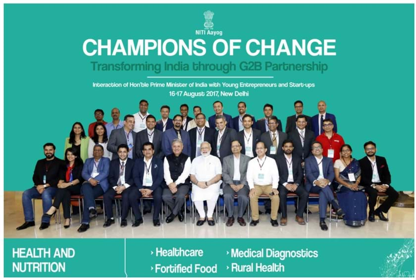 Our Founder Vipul Jain with PM Modi at Champions of Change Vipul Jain