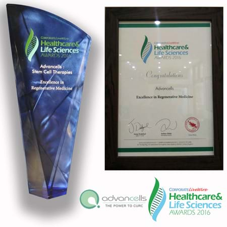 Excellence Award in Regenerative Medicine.